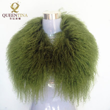 Provide Professional Real Wool Fur Collar Women 2017 Hot High Quality Green Beach Wool Collar Real Fur Shawl for Down Jacket