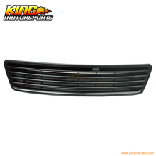 For 1998-2001 Audi A6 C5 Black ABS Front Hood Grille Grill Euro Vertical Badgeless USA Domestic Free Shipping