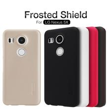 Nillkin Frosted Shield Cell Phone Back Case For Google / LG Nexus 5X H790 H791 H798 Hard Case Brand New with Screen Protecor(China)