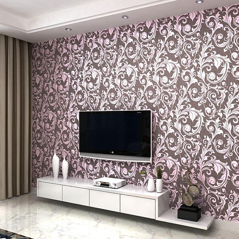 Continental ranunculus Shao Ye living room wallpaper non-woven wallpaper TV backdrop bedroom bedside sofa<br><br>Aliexpress