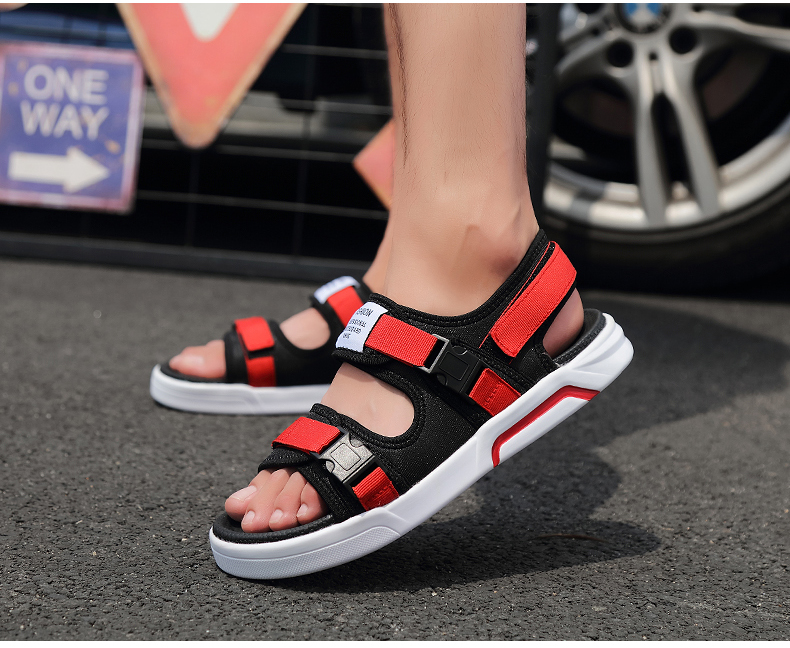 YRRFUOT Summer Big Size Fashion Men's Sandals Outdoor Hot Sale Trend Man Beach Shoes High Quality Non-slip Adult Flats Shoes 46 25 Online shopping Bangladesh