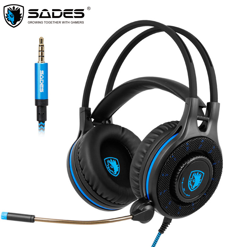 Sades SA936 Gaming Headphones Stereo Game Headset casque with Microphone for 2016 New Xbox One PS4 PC Laptop iPad iPod<br>