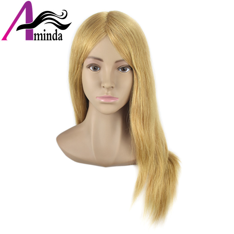Salon Mannequin Head Practice Head Training Head For Barber HairStyles Doll Hairdressing Cosmetology Styling Manikin Head with Clamp (22)