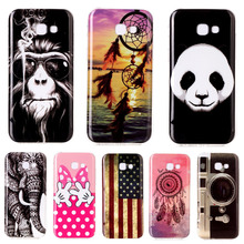 Nostalgic Soft Silicone TPU Phone Case For Samsung Galaxy A3 2017 A320 Unique Flag Game Dreamcatcher Pattern Back Cover Shell(China)