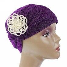 10PCS Islamic Arab Women Hijab Inner Hats Pearls Headwear Turban Head Wrap Cap Chemo Scarves Muslim Lady Caps New Random Color(China)