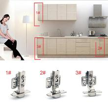 1Pcs 95 Degrees Stainless Steel Soft Close Hydraulic Hinges Cabinet Kitchen Door Hinges 35mm Hinge Cup(China)