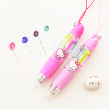 X22 Cute Kawaii Hello Kitty 4 Colors Mini Protable Press Ballpoint Pen Student Writing Stationery School Office Supply Gift