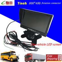 factory direct supply 7Inch Car Monitor 800 x 480 Color TFT LCD Display bus cctv rear view systems(China)