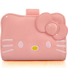 Hello Kitty Sweet Style Mini Purse Waterproof PU Leather Kids Purse Kawaii Elegant Card Cover High Quality Wallet(China)
