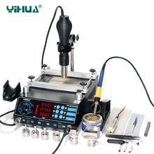650W YIHUA 853AAA Hot Air Gun Rework Station Imported Soldering Iron With Preheat BGA Station Cellphone 3 In 1 Repair Tool(China)