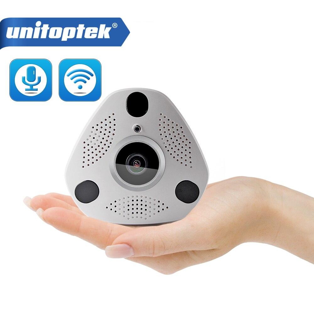3D VR WIFI Camera 1.3MP 360 Degree Panoramic IP Camera 960P HD Wireless Wi-Fi Camera Fisheye Lens TF Card Slot Multi View Mode<br>