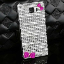 Diamond Bow-knot Cover Cases for Samsung Galaxy S7 Edge S6 S6 Edge S6 Edge Plus New Bling PC Hard Shell for Samsung C9 Pro i9060