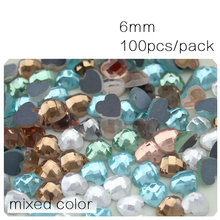 Wedding dress accessories Mixed color Heart&Strip Glue on flatback rhinestone for DIY Garment&Shoes&Bag decoration Craft making
