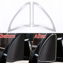 2x Car Front Triangle Door Stereo Speaker Audio Sound Cover Trim Frame Styling Sticker Fit For Benz A180 A200