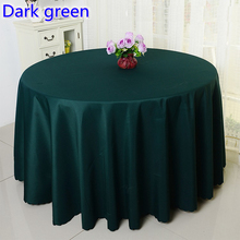 Dark green colour wedding table cover table cloth polyester table linen hotel banquet round tables decoration wholesale