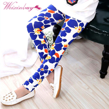Spring Autumn Baby Girls Soft Slim Pants Stretch Leggings Kids Girl Trousers(China)