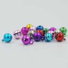 100pcs 6mm Mixed Color Jingle Bells Lacing Bells Christmas Ornaments Decoration AE00580