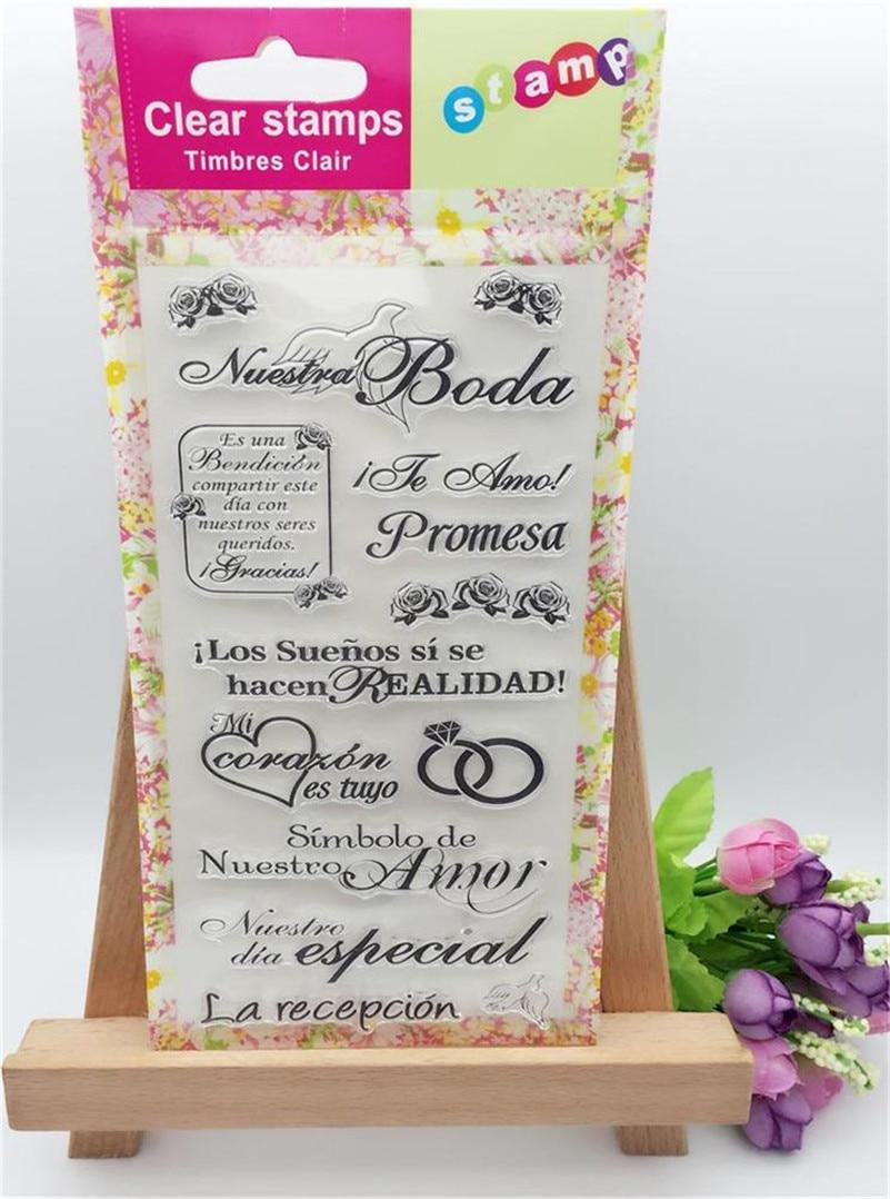wedding ring scrapbooking diy stamp for wedding gift photo album paper card transparent stamp YUW253<br><br>Aliexpress