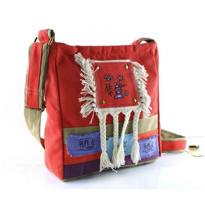 Handmade cloth bag womens handbag national trend cross-body shoulder bag canvas casual bag<br>