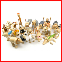 free shipping  animal dolls organic  maple dolls figures educational toys  24pcs/lot