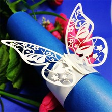50Pcs European Style Paper Napkin Rings For Wedding Party Anniversary Hotel Dinner Table Decoration Towel Holder Wraps