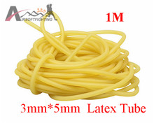 3mm x 5mm Natural Latex Slingshots Rubber Tube 1M Tubing Band Tactical Hunting Catapult Elastic Part Bungee Equipment