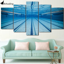 HD Printed Swimming pool underwater Painting Canvas Print room decor print poster picture canvas Free shipping/CU-221(China)