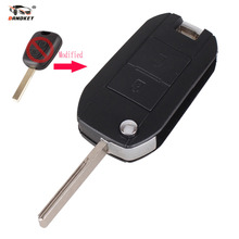 DANDKEY For Peugeot 307 107 207 407 For Citroen C1 C2 C3 C4 C5 Modified Remote Entry Key Fob Shell Case 2 Buttons With LOGO