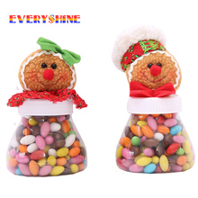 1pcs/lot Gingerbread Man Candy Jar Sugar Bowl Christmas Kids Gift Ornaments Toy Sweet Storage Container for Home Decor SD360(China)