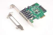 SYBA 8 Port USB 2.0 PCI-Express X1 Card (6 External Ports and 2 Internal 9 Pin Ports)