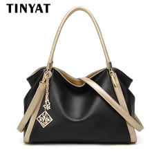 TINYAT New Designer Women Handbag Femal PU Leather Shoulder Bag Lady Office Tote Bag Casual Portable Handbags Messenger Bags 308
