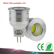New products MR16 COB spotlights 6W 12V dimmable LED bulbs Warm white / white energy saving lamps LED light cups(China)