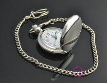 man father smooth round classic silver men pocket watch gift quartz short waist chain low price good quality
