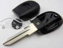 Transponder Key Shell In Black for Alfa Romeo 145 146 155 GTV Spider Uncut Replacement Case Fob with logo(China)