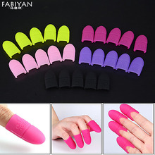 5pcs Nail Art Tips UV Gel Polish Remover Wrap Silicone Elastic Soak Off Cap Clip Manicure Cleaning Varnish Tool Reuseable Finger(China)