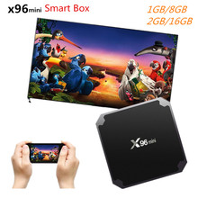 X96 mini Android 7.1 TV BOX 2GB 16GB Smart TV Box Amlogic S905W Quad Core Suppot H.265 UHD 4K 2.4GHz WiFi X96mini pk A95X R1