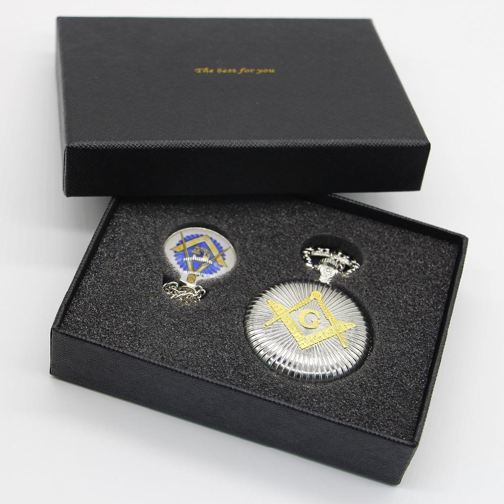 Fashion-Silver-Masonic-Freemason-Freemasonry-Theme-Alloy-Quartz-Fob-Pocket-Watch-Sets-With-Necklace-Chain-Gifts