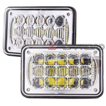 "For Western Star 4800 series,4900 series,6900 series Square 4x6 LED Truck Headlight 4x6"" Projector Truck Headlamp with DRL(China)"