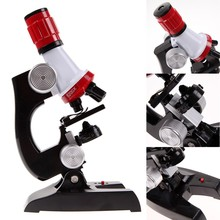Microscope Kit Science Lab 100X-1200X Home School Educational Toy Gift For Kids