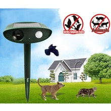 High Quality Solar Power Eco-friendly Outdoor Garden Ultrasonic Repeller Motion Pest Animal Mice Rat Mouse Fox Control F