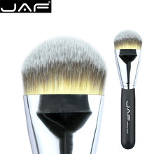 JAF Kabuki Liquid Foundation Brush for Face Makeup Beauty Straight Taklon Synthetic Tri-Color Hair Pressed Round Tip 18STYF(China)