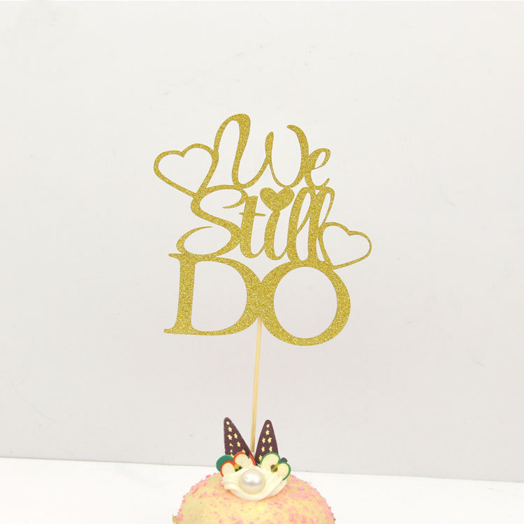 Cake Toppers we still do Glitter Love Cake Topper Lips Happy Birthday Cupake Flags Wedding Valentine DIY Decor  Kids Party