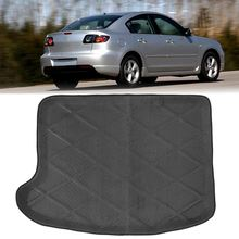 Black Car Tailgate Cushion Rear Mat Boot Trunk Liner Tray For Mazda 3 2010-2015