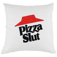 Buy Throw Pillow Case Hut Pizza Slut Letters Print Tumblr Style Novelty Humour Pillow Cover Spoof Funny Inspired Rude Gift Joke