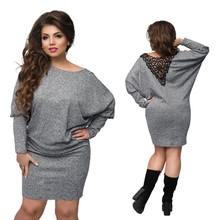 Buy 2017 Winter dress plus size christmas party dress batwing sleeve knitted bodycon lace dress sexy women dress female big 5XL 6XL for $14.99 in AliExpress store