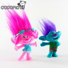 DreamWorks Trolls PVC Action Figures Trolls Doll Toys For Kids Christmas Gift Party Supplies Dolls Anime Figure Pink Blue Purple