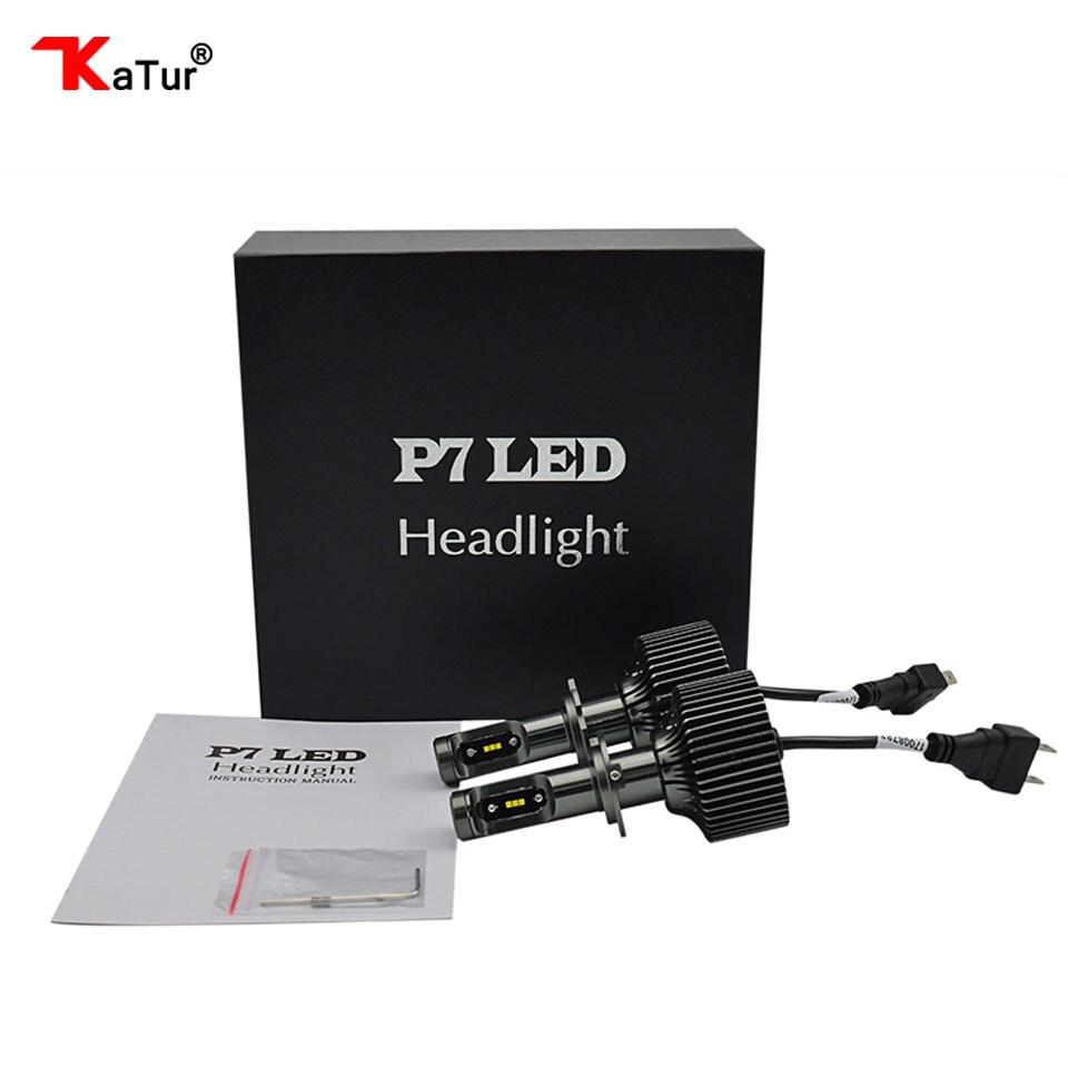 H7 H11 9005 9006 5202 9012 Brand Katur 1 Pair 6000K White LED Headlight Bulbs Conversion Kit Single Beam Fog Lamps DRL Lights <br>