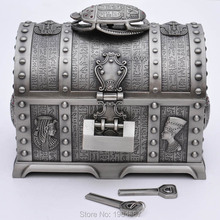 Real-life escape room game prop,Pirate treasure chest box with lock Takagism game prop