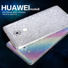 High quality Diamond Glitter Bling Crystal skin full Body Decals Film /Sticker Protect case for For huawei mate7 /mate8/Mate9