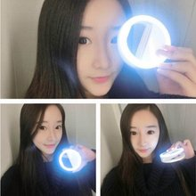 Charming Lady Portable Selfie Flash LED Phone Camera Ring Light For Apple Iphone For Samsung For  HTC